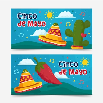 Cinco de mayo banner pack