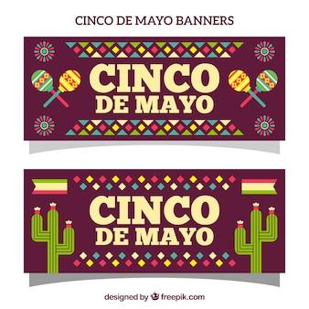 Cinco de mayo banner with