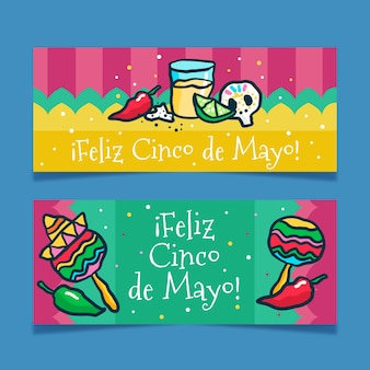 Cinco de mayo banners draw
