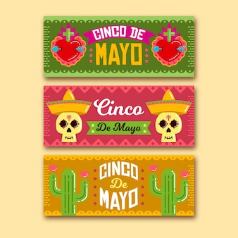 Cinco de mayo banners template for celebration