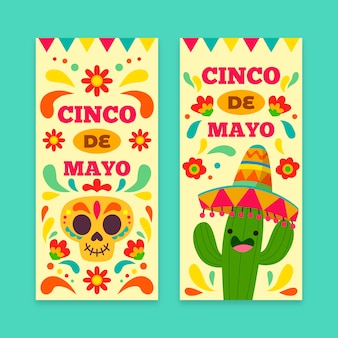 Cinco de mayo banners template concept