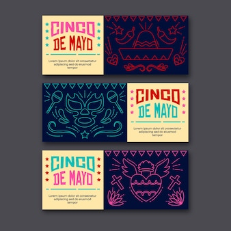 Cinco de mayo banners template for event