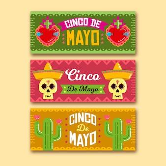 Шаблон баннеров синко де майо для празднования
