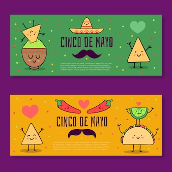 Cinco de mayo banners template style