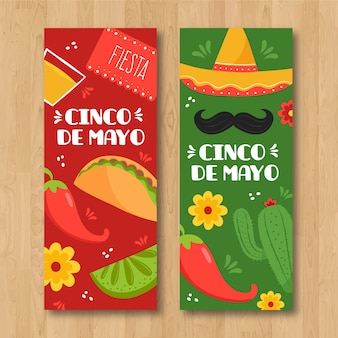 Cinco de mayo banners template theme
