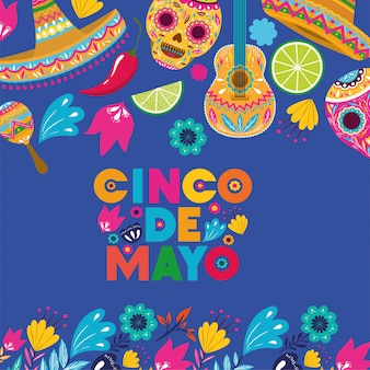 Cinco de mayo card pattern