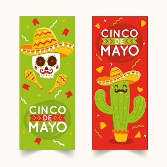 Cinco de mayo celebration banners