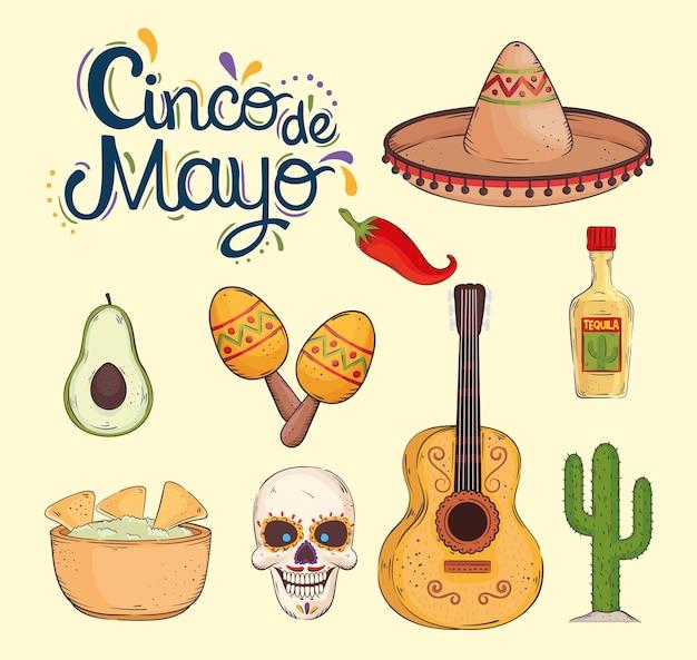 Cinco de mayo celebration elements