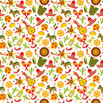 Cinco de mayo celebration in mexico pattern