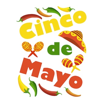 Cinco de mayo colorful festive background