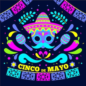 Cinco de mayo event flat design