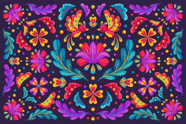 Cinco de mayo festival floral background