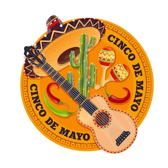 Cinco de mayo fiesta holiday, happy may party celebration in mexico