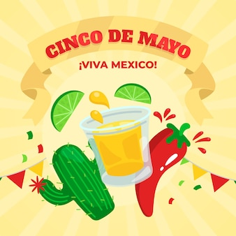 Cinco de mayo in flat design