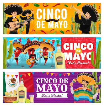 Cinco de mayo holiday banners