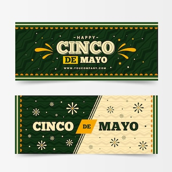 Синко де майо горизонтальные баннеры