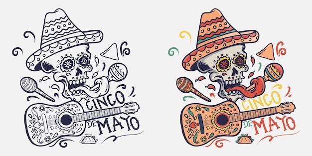 Синко де майо иллюстрация