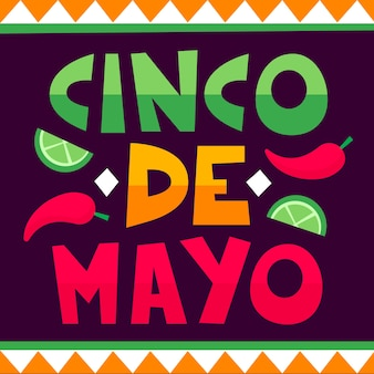 Cinco de mayo lettering background
