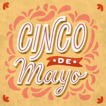 Concetto di lettering cinco de mayo