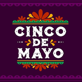 Cinco de mayo lettering