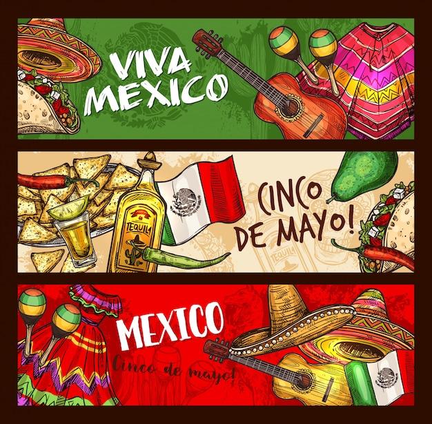 Cinco de mayo mexican holiday celebration Premium Vector