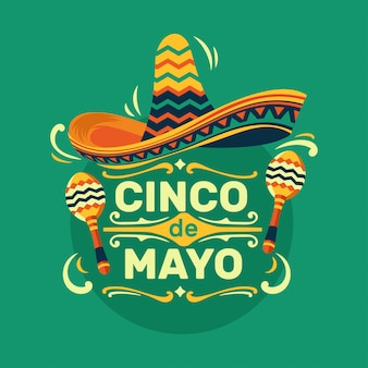 Cinco de mayo mexican holiday party illustration  premium