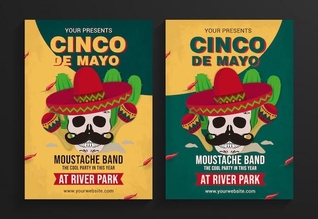 Cinco de mayo party  flyer template