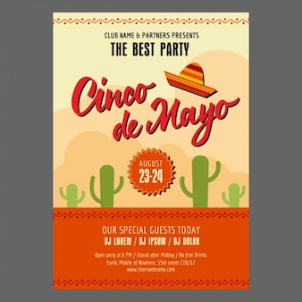 Cinco de mayo party poster design