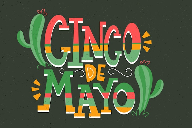 Cinco de mayo typography background