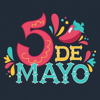 Cinco de mayo typography