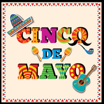 Cinco de mayo typography