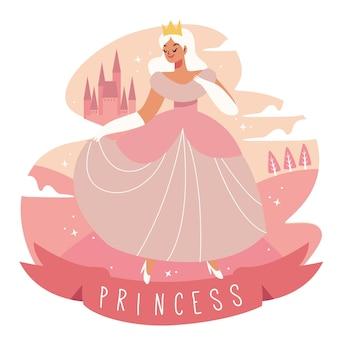 Cinderella character in dress