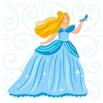 Золушка сказочный персонаж иллюстрации