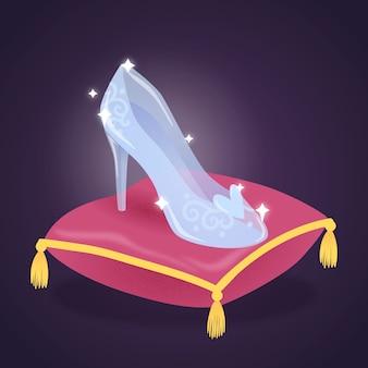 Золушка стеклянная иллюстрация обуви