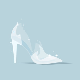 신데렐라 유리 신발 그림