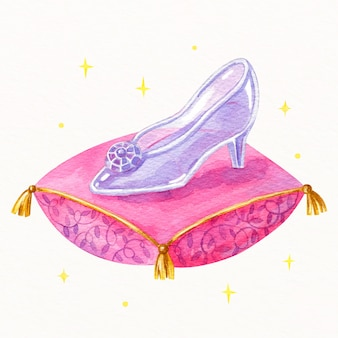 枕にシンデレラガラスの靴