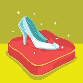 Cinderella glass shoe
