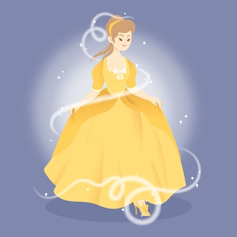 Cinderella princess character illustration