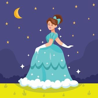 Concetto di principessa cenerentola