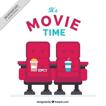 Кино фон с креслами