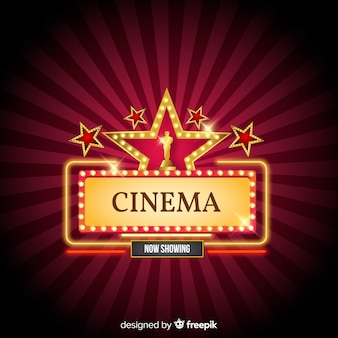 Cinema background with stars