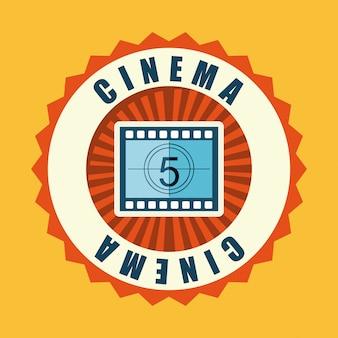 Cinema over background