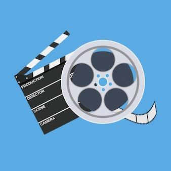 Cinema clap and film reel