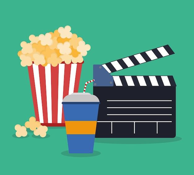 Cinema concept with icon design