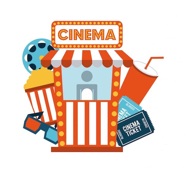 Cinema design over white background vector illustration