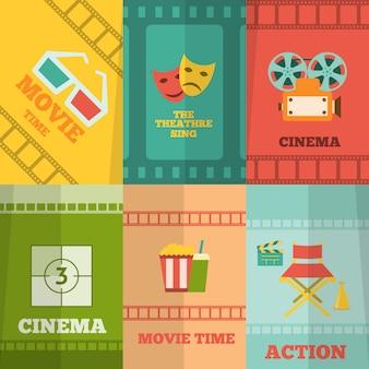 Cinema elements composition poster print