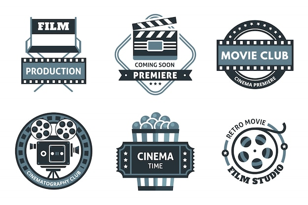 Cinema emblem set