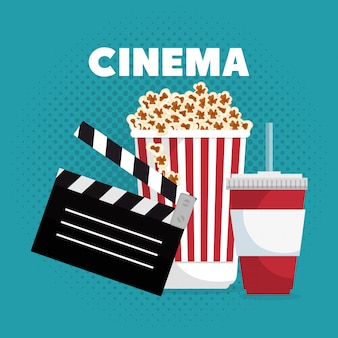 Cinema entertainment illustration