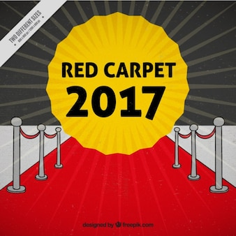 Cinema event 2017 background with a red carpet