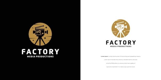 Cinema film production shooting studio logo design
